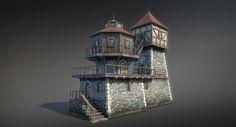 Fantasy House 04 (Low Poly), Sergey Ryzhkov on ArtStation at https://www.artstation.com/artwork/4EN0q