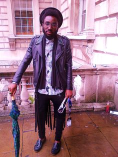 Buttoned Up Leather - Somerset House London Fashion Week.