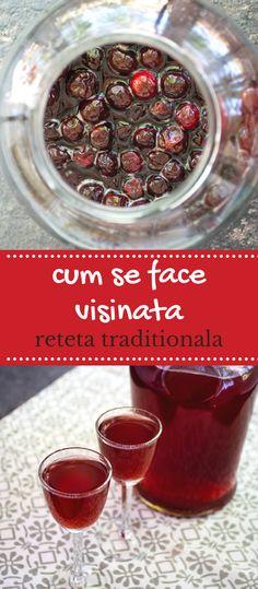 Rețeta tradițională de vișinată de casă. Vișinata este o băutură românească, un lichior de vișine prezent în casa oricărui om gospodar, mai ales la sărbători sau atunci când are oaspeți. #bucatearomate #visinata #retetavisinata #visine #visinatareteta #retetetraditionale #bauturi #visinatacualcool Cravings, Pudding, Drinks, Breakfast, Desserts, Romanian Recipes, Drinking, Morning Coffee, Tailgate Desserts
