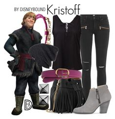 Kristoff by leslieakay on Polyvore featuring polyvore, fashion, style, Paige Denim, rag & bone, Whistles, Waterford, malo, Neff, Lauren Ralph Lauren, Disney, clothing, disney and disneybound