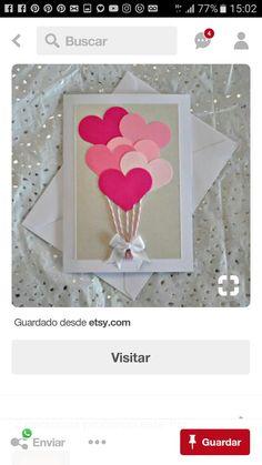 Valentines Day Cards Handmade, Valentines Diy, Valentine's Day Diy, Frame, Home Decor, Mother's Day, Creative Ideas, Creativity, Manualidades