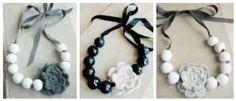 Image result for crochet flower necklaces