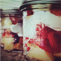 Jeanine S. suggests Strawberry Shortcake in Mason Jars for a romantic evening in #DurexSexplorers