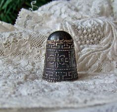 Vintage Sterling Silver Thimble, Greece