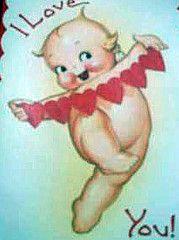 I love you Kewpie Valentine Images, Valentine Ideas, German Toys, Porcelain Dolls For Sale, Vintage Greeting Cards, Vintage Postcards, Bisque Doll, Vintage Valentines, My Baby Girl