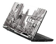 Decusto - City bw - adhesivo en vinilo para decorar tu portátil