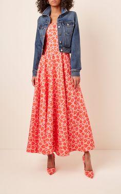 Printed Pleated Crepe Dress by BRANDON MAXWELL for Preorder on Moda Operandi