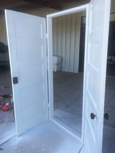 Old vintage doors into walk through for a wedding