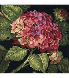 If you are a lover of floral patterns, the Ek Success Dimensions Hydrangea Bloom Needlepoint Kit 14 x 14 is a perfect choice to add a whole new dimension to your home decor. Its amazingly detailed mop