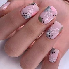 Nail Art Instagram, V Instagram, Hot Nail Designs, Beautiful Nail Designs, Cute Nails, Pretty Nails, Glow Nails, Fall Acrylic Nails, Neutral Nails