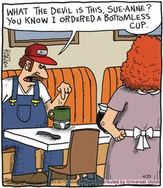 Argyle Sweater by Scott Hilburn -- Multiple word meanings -- Bottomless cup