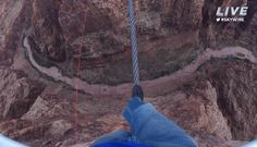 'King of the High Wire' takes 'life or death' walk over 1,500-foot drop, but it was actually over Little Colorado Gorge; it was dramatic
