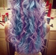 When I was little I really wanted purple and blue hair. Haha