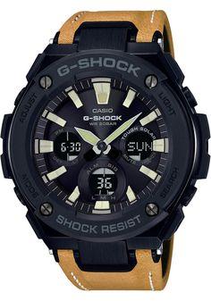 G-Shock G-Steel Tough Leather Tan Black (GSTS120L-1B). Pánské  VěcičkyLuxusní HodinkySolárníKřídlaSvětlaDisplay b1d997315c