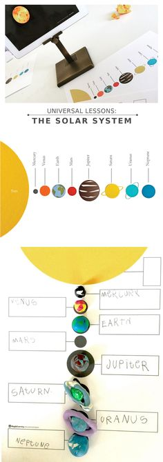 Space: Science One of our most beloved lessons from the studio this summer + amazing printables! Space Activities, Science Activities, Science Projects, Activities For Kids, Space Preschool, Solar System Poster, Space Solar System, Our Solar System, Science Lessons