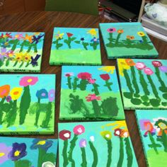 Mother's Day paintings by my Kindergarten class!