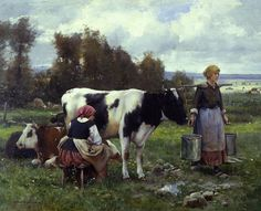 Milkmaids in the Field, Julien Dupre