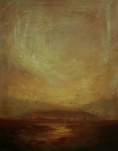 """Donna Holdsworth Contemporary Art: Queen Of Light 03 """"Exodus"""" Contemporary Landscape Painting By Donna Holdsworth"""