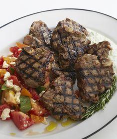 Lamb Chops with Tomato and Feta Salad