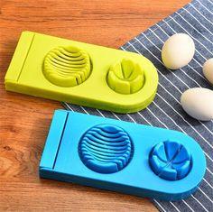 2 in 1 Stainless Steel Egg Cutter Egg Slicer, Logo Samples, 1 Egg, Shenzhen, Blue Green, Stainless Steel, Duck Egg Blue