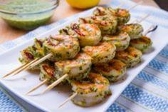 Myfridgefood - Pesto Grilled Shrimp