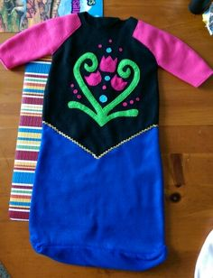 homemade frozen anna bunting costume for infant halloween 2014 - Frozen Halloween Decorations