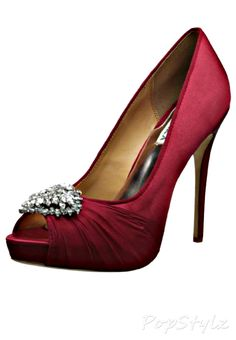 Maybe a deeper red? I think this shade would look lovely with your blush dress! Badgley Mischka Pettal Platform Pump