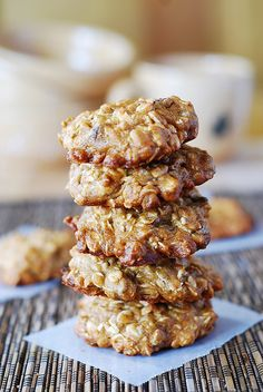 Banana oatmeal cookies with chocolate chips by JuliasAlbum.com, via Flickr