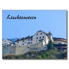 Photography of the castle in Vaduz, the capital of the Principality of Liechtenstein in Europe. Unique Gifts For Him, Movie Trailers, Austria, Castle, Survival, Europe, Photography, Travel, Gender