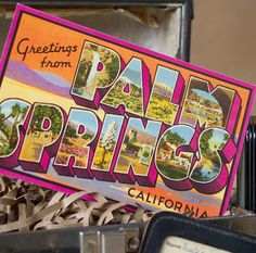 Vintage Large Letter Postcard Save the Date (Palm Springs, California) - Design Fee