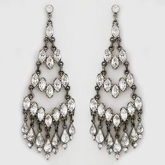 Ben-Amun Jewelry. Royal jewels. Literally. These chandelier earrings were worn by Mary on the TV series Reign. Crystal. Spectacular.
