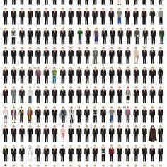 Barney Stinson's Outfits Through all 208 Episodes @Gabriella Sutanto