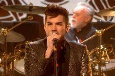 "Adam Lambert performing ""Somebody to Love"" with Queen on X Factor UK. 11-30-14"