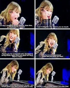 It was a crazy and wonderful three minutes when the crowd went wild in the middle of the song! I know, because I was there that night! I was screaming (I love you Taylor) and clapping. She was so happy and she didn't know what to say at the first time.  She was like: OMG what's happening? It was an unbelievable. But she deserves moments like this one was. And I am glad, because I was there. I was part of the cheering crowd.