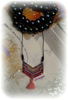 κολιέ με γνήσιες χάντρες miyuki  miyuki necklace Tassel Necklace, Crochet Necklace, Tassels, Summer, Jewelry, Summer Time, Jewlery, Crochet Collar, Bijoux