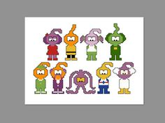 Snorks Pixel People Character Cross Stitch PDF by CheekySharkLabs