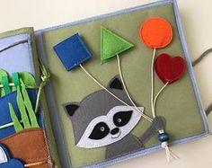 Libro tranquillo nella pagina personalizzata libro occupato, libro di attività, fatti a mano giocattolo sensoriale per i bambini, per i più piccoli