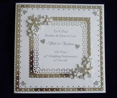 Handmade Personalised Silver or Diamond 25th/60th Wedding Anniversary Card | eBay