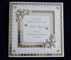 Handmade Personalised Silver or Diamond 25th/60th Wedding Anniversary Card | eBay