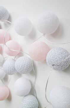 TMN X Cotton Ball Lights - Pink/Grey