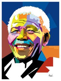 Nelson Mandela WPAP by alfred tezar, via Behance Nelson Mandela, Mandela Art, Arte Pop, Pop Art Portraits, Pop Art Illustration, Pop Art Design, Kunst Poster, Sketch Painting, Andy Warhol