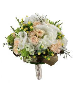 Buchet de mireasa cu trandafiri si ornitogalum BM212