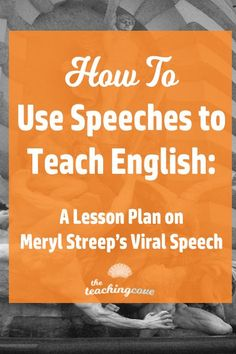 How can use speeches to teach English in a fun, creative way? Teach English speaking skills and writing skills using this fun method! Here's an example from Meryl Streep's speech at the 2017 Golden Globes. Learn how to teach English writing through speech English Speaking Skills, English Writing, Teaching English, English Help, English Online, English Literature, Teaching Grammar, Teaching Writing, Teaching Resources