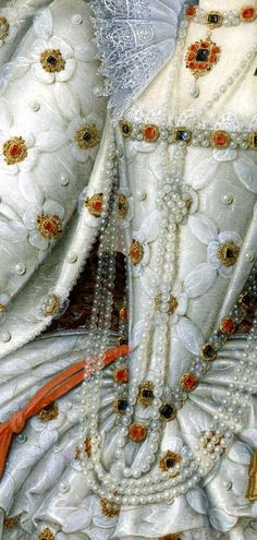 Queen Elisabeth I by Marcus Gheeraerts the Younger - Click to enlarge