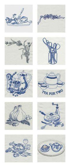 Vintage Kitchen 2 Embroidery Machine Design Details