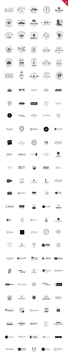 465 Logos Bundle - 90% off by vuuuds on Creative Market: