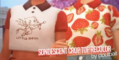 ♢ Female ♢ Teen to Elder ♢ Maxis Match ♢ SimFileShare ♢ No Ad. Sims Four, Sims 4 Mm, My Sims, Strawberry Shirt, Sims 4 Anime, Sims Building, Sims 4 Cc Packs, Sims 4 Clothing, Sims 4 Cc Finds