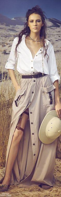 Clothes - safari style fashion Mode Safari, Safari Chic, Safari Outfits, Ethno Style, Moda Casual, African Safari, Look Chic, Mode Outfits, What To Wear