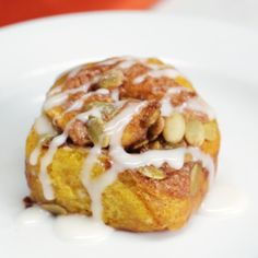 These warm cinnamon buns have sugar, pumpkin spice and everything nice.