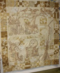 I have to make this quilt!! It is called Calendula Patterdrip's Cottage by Crab Apple Hill Studio